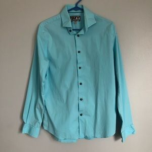 Men's Express Blue Button Down Shirt